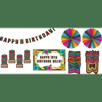 Kit de Decoración para Habitación Tiki Tropical, 10 piezas