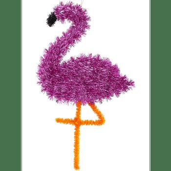 Decoración Flamingo de Oropel
