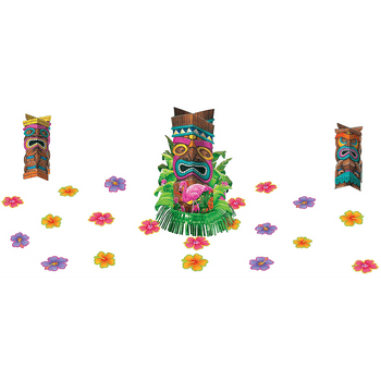 Kit de Decoración para Mesa Tiki Tropical, 23 piezas