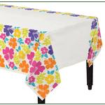 Mantel-Blanco-Flores-Hibisco