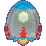 Plato-De-Papel--Cohete-Blast-Off-7In-8-Unidades