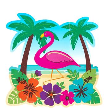 Figura Recortable Playa Tropical