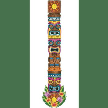 Figura Recortable Cabezas Tiki