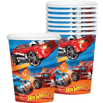 Vasos Hot Wheels 9Oz, 8 Unidades