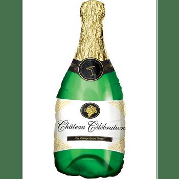 Globo Metálico en forma de Botella de Champaña, 28 Pulgadas