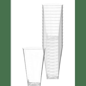 Vasos Cuadrados de Plástico Premium 354 ml, 14 piezas