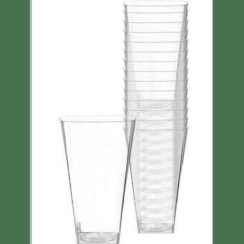 Vasos Cuadrados de Plástico Premium 473 ml, 14 piezas