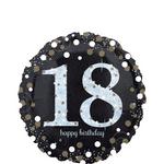 Globo-Holografico-Cumpleaños-18-Negro-17-Pulgadas