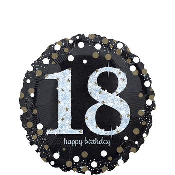 Globo Holográfico Cumpleaños Negro de 17 Pulgadas