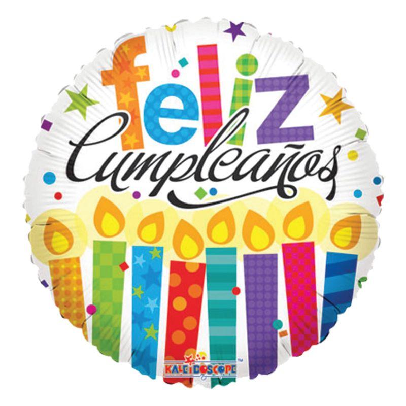 Globo-Feliz-Cumpleaños-Velas-de-Colores-18-Pulgadas