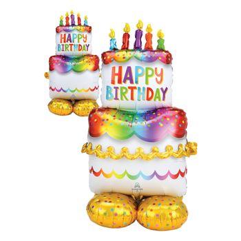 Globo Metálico Gigante Pastel de Cumpleaños