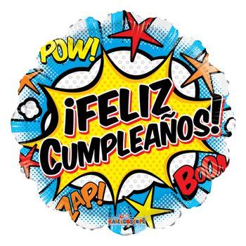 Globo Feliz Cumpleaños Comic de 18 Pulgadas