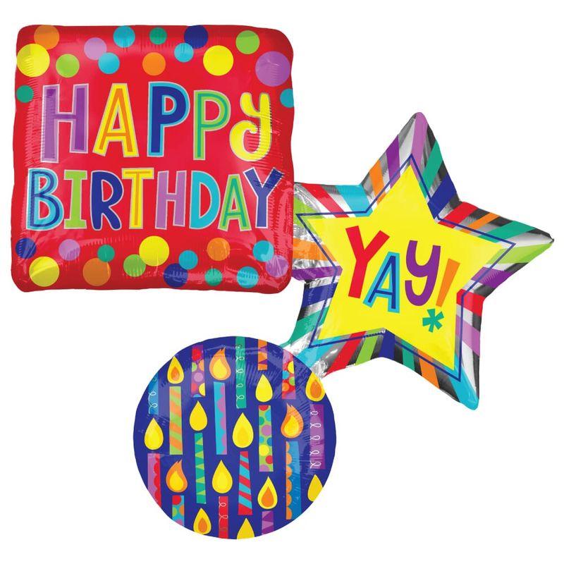 Globo-Metalico-Apilado-Multicolor-Happy-Birthday-Yay-28-Pulgadas