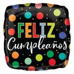 Globo-Metalico-Cuadrado-Feliz-Cumpleaños-Puntos-de-Colores-17-Pulgadas