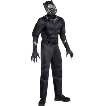 Disfraz de Pantera Negra Musculoso para Hombre