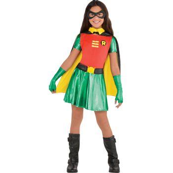 Disfraz de Robin para Niña - DC Comics