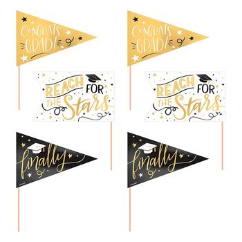 Carteles de Banderines para Graduación, 6 piezas