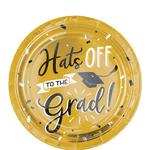 Platos-de-Papel-Hats-Off-Graduacion---7-Pulgadas-8-piezas