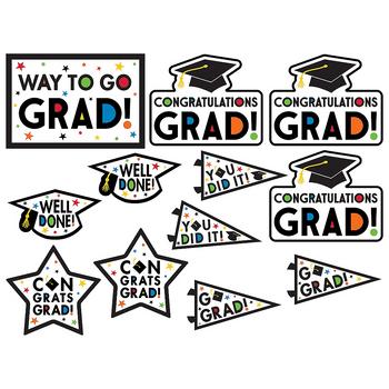 Figuras Recortables para Graduación, 12 piezas