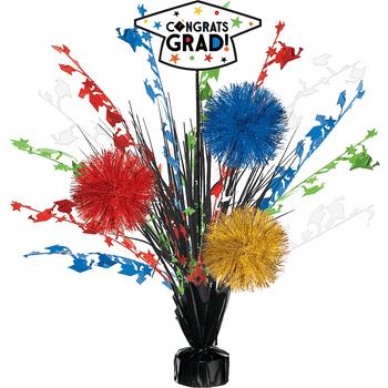 Centro de Mesa Spray Multicolor Congrats Grad