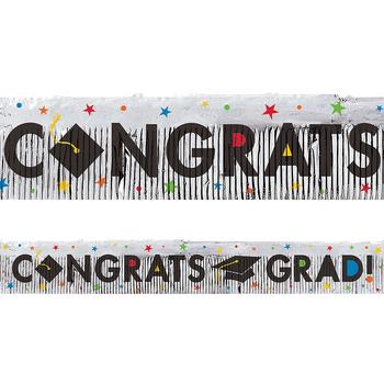 Banner con Flecos Congrats Grad