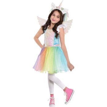 Disfraz de Unicornio Iridiscente para Niña