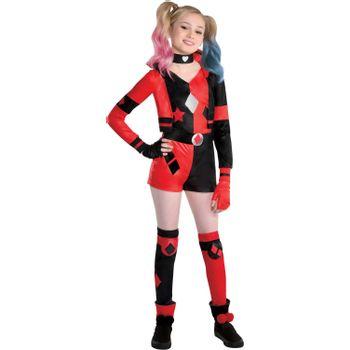 Disfraz de Harley Quinn para Niña - DC Comics