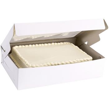 Caja Rectangular para Pastel con Ventana Transparente