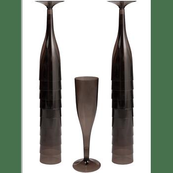 Copa Flauta de Plástico de 162 ml, 20 piezas