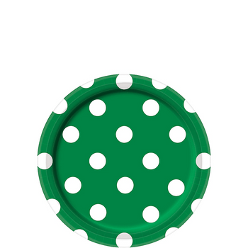 Platos de Papel con Puntos de 7 Pulgadas, 8 piezas