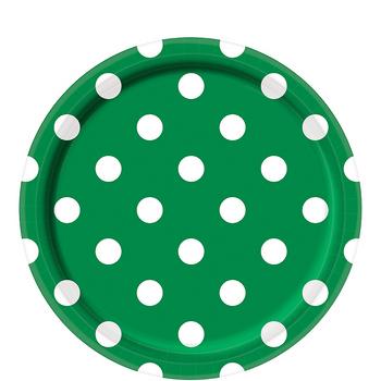 Platos de Papel con Puntos de 9 Pulgadas, 8 piezas
