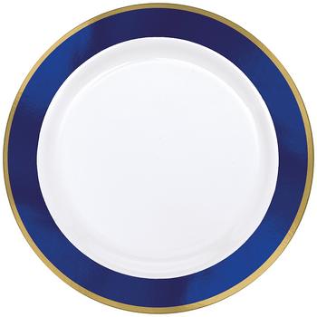 Platos de Plástico con Orilla de Color de 10 Pulgadas, 10 piezas