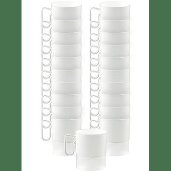 Tazas de Plástico para Café de 236 ml, 20 piezas