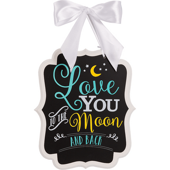 Letrero para Baby Shower To the Moon and Back