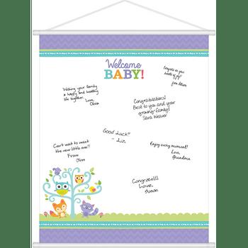 Hoja para Firmas Baby Shower