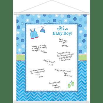 Hoja para Firmas Baby Shower de Niño