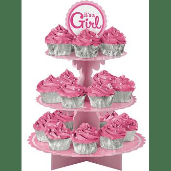 Base para Cupcakes de Baby Shower It's a Girl