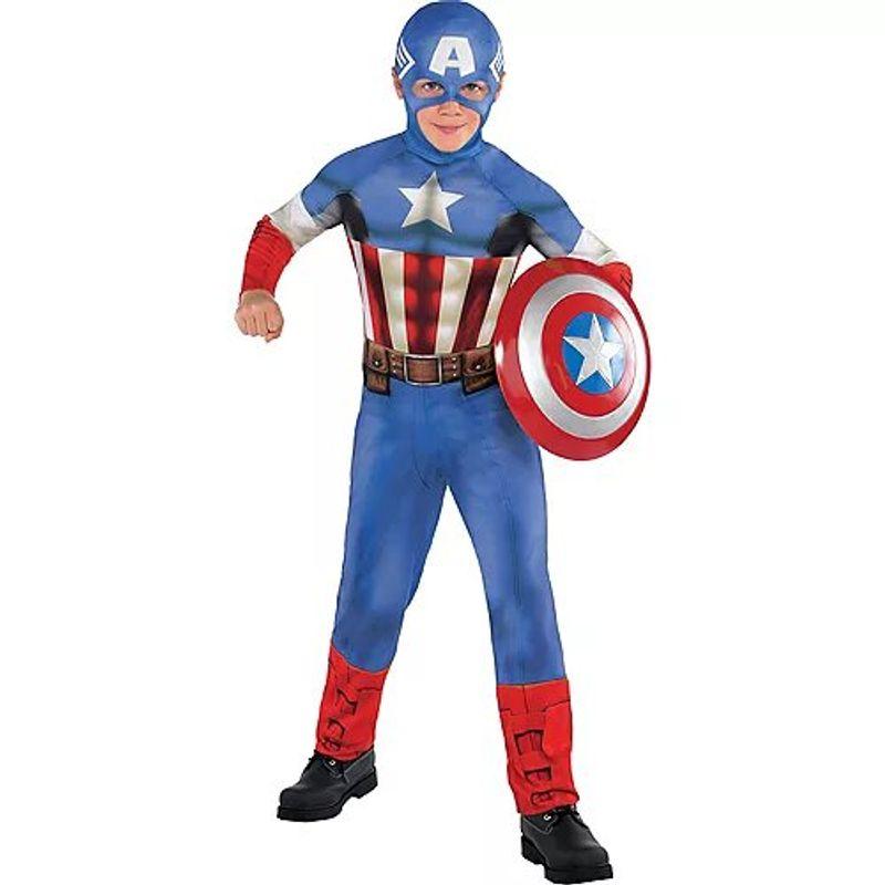 Disfraz-de-Capitan-America-Clasico-para-Niño-Party-City