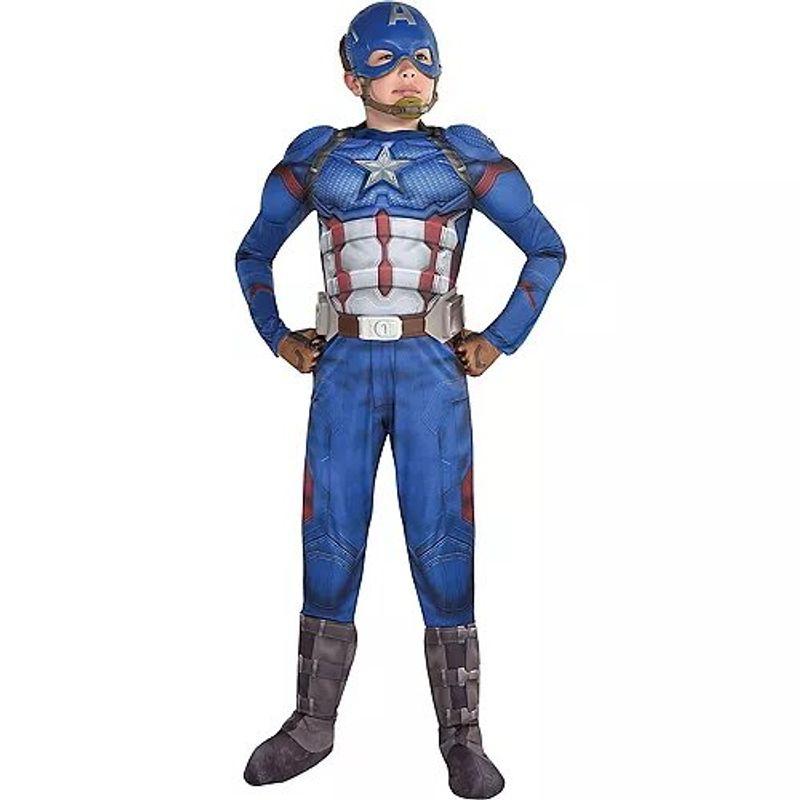 Disfraz-de-Capitan-America-Musculoso-para-Niño---Avengers-4-Party-City