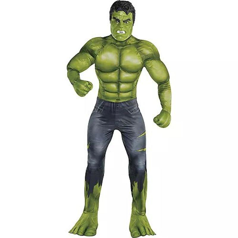 Disfraz-de-Hulk-Musculoso-para-Hombre---Avengers-4-Party-City