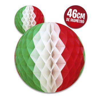 Decoración Colgante de Papel Esfera Tricolor Jumbo