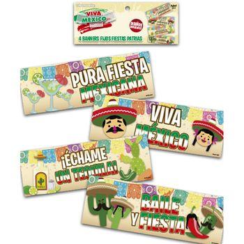Banners Fijos Fiestas Patrias, 4 piezas