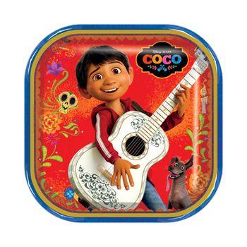 Platos Cuadrados Coco, 6 piezas