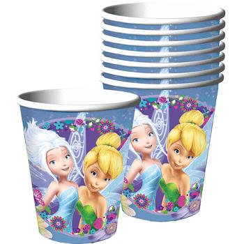 Vasos de Papel Tinker Bell Amigas, 8 piezas