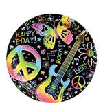 Platos-de-Papel-Cumpleaños-Neon---7-Pulgadas-8-piezas-Party-City