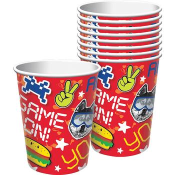 Vasos de Papel Fiesta Épica, 8 piezas