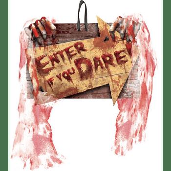 Letrero Halloween Enter If You Dare