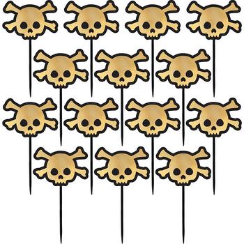 Palillos para Fiesta Calavera Dorada, 36 piezas